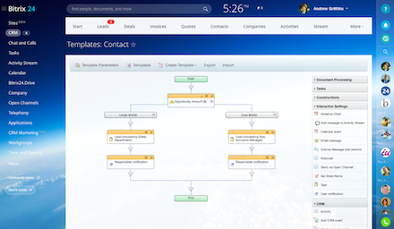 Free CRM with workflow automation